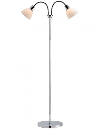 lampara de pie con dos luces-2356CH