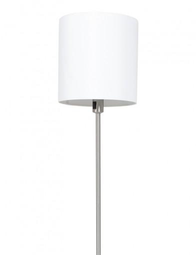 lampara de pie con pantalla redonda blanca-1564ST
