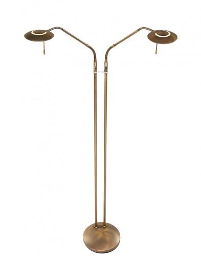 lampara de pie de dos brazos bronce-1569BR