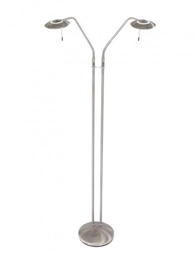 lampara de pie de dos brazos en acero-1569ST