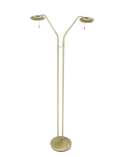 lampara de pie de dos brazos laton-1569ME