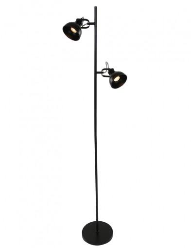 lampara de pie de dos luces negro-1511ZW