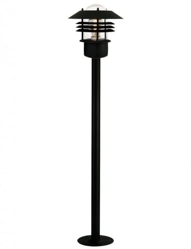 lampara de pie de exterior negra-2396ZW