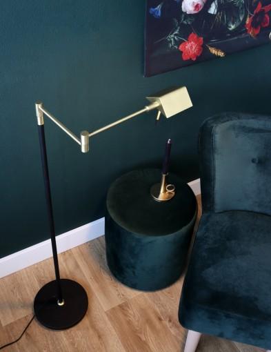 lampara de pie de laton-1486ME
