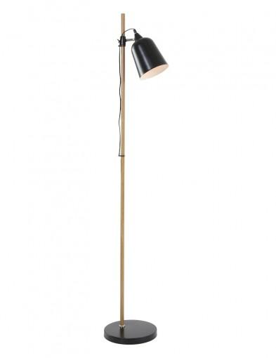 lampara de pie de metal negro-7850ZW