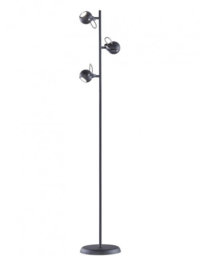 lampara de pie de tres luces con tapas ajustables-1883ZW