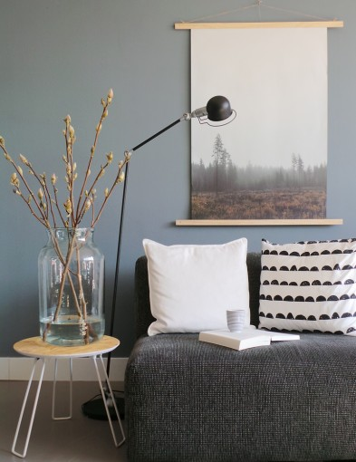 lampara de pie diseno industrial negro-7658ZW