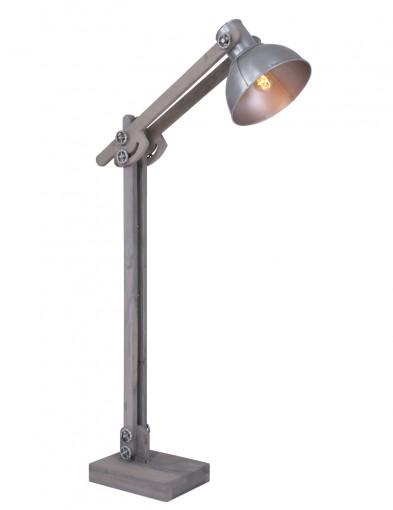 lampara de pie diseno madera y metal-1493ZI