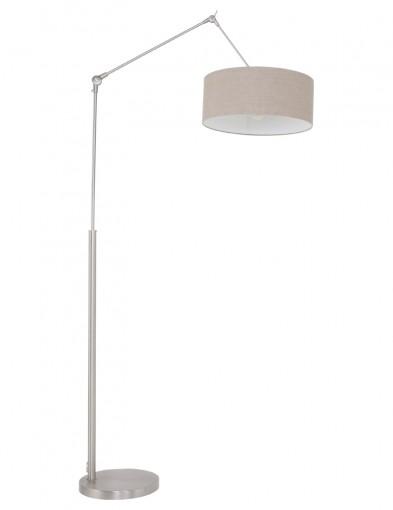 lampara de pie en acero y gris-9898ST