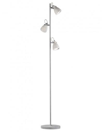 lampara de pie industrial con tres luces-1814GR