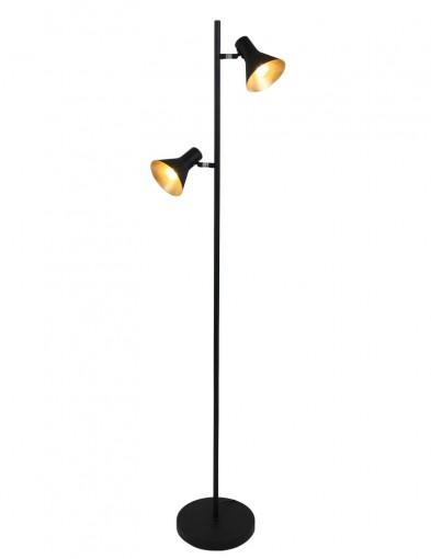 lampara de pie industrial dos luces-1627ZW