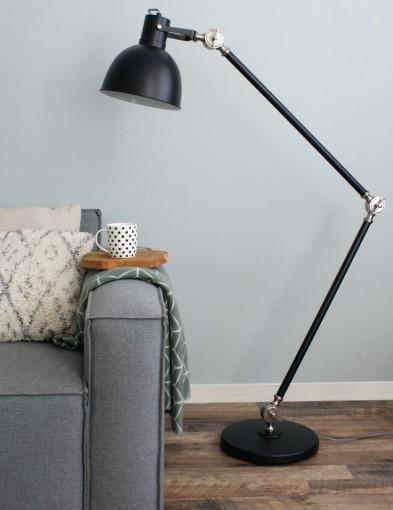 lampara de pie industrial negra-7646zw