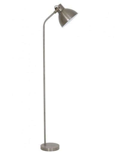 lampara de pie industrial plateada-1926ZI