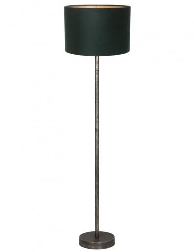lampara de pie metalica verde undai-9299ZW