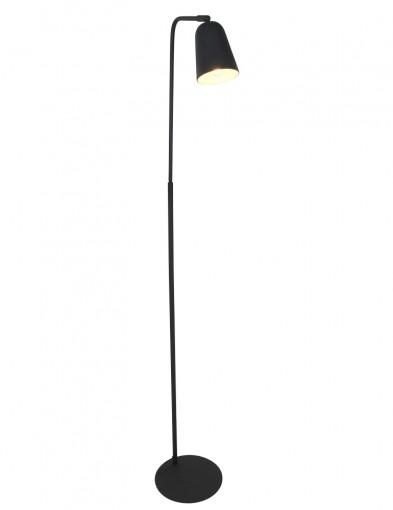 lampara de pie negra-1683ZW