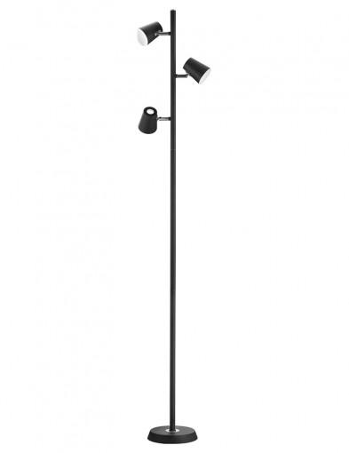 lampara de pie negra-1880ZW