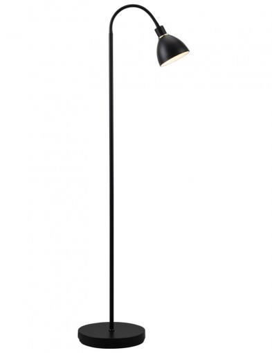 lampara de pie negra-2353ZW