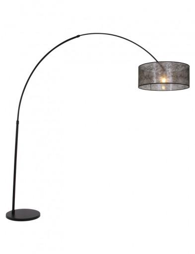 lampara de pie negra lilac-9834ZW