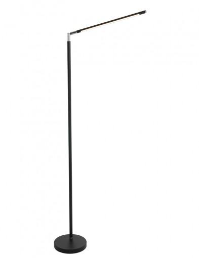 lampara de pie negra moderna y elegante-1531ZW