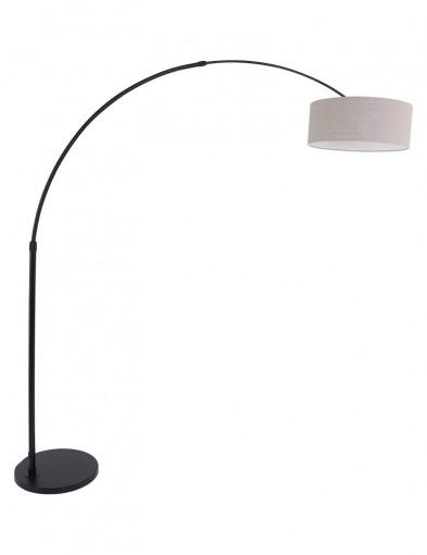 lampara de pie negra tamano grande-9900ZW