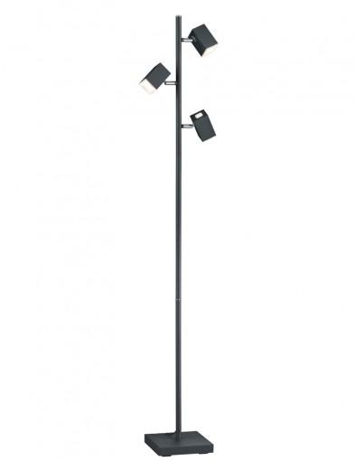 lampara de pie negra tres luces-1875ZW