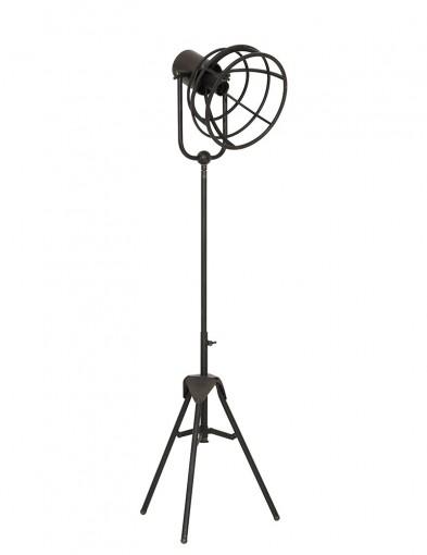 lampara de pie negra tripode-1912ZW