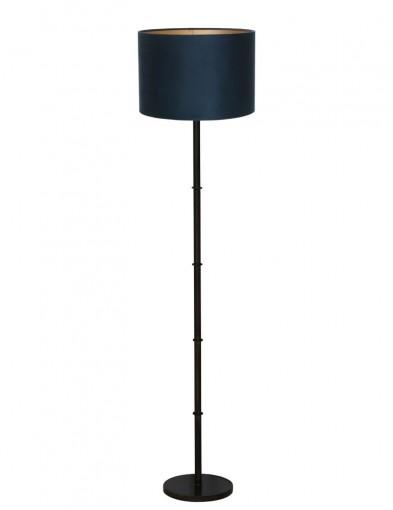 lampara de pie negra y azul-9989ZW