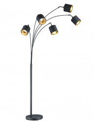 lampara de pie negra y dorada-1807ZW
