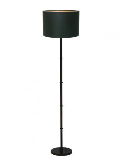 lampara de pie pantalla verde-9988ZW