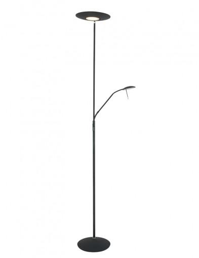 lampara de pie para lectura ajustable negra-7972ZW