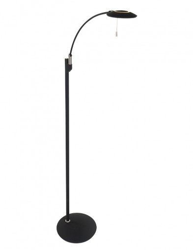 lampara de pie para lectura led negro-7862ZW
