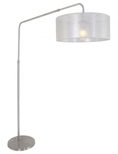 lampara de pie plateada-9883ST