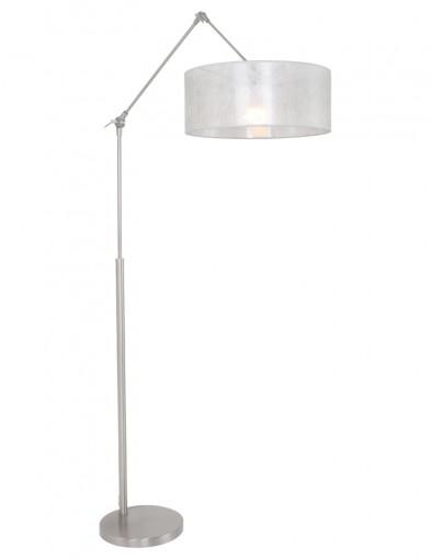 lampara de pie plateada-9895ST