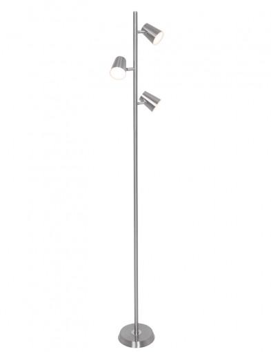 lampara de pie tres luces acero-1489ST