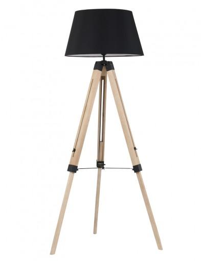 lampara de pie tripode en negro-1558BE