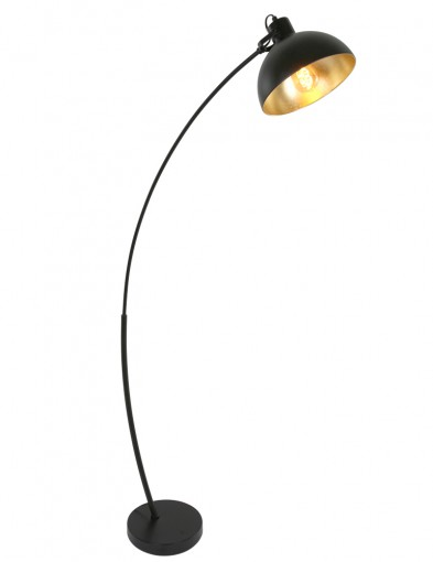 lampara de pienegra y dorada-1631ZW