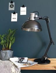 lampara de sobremesa negra-7715ZW