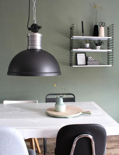 lampara de supension negra-7670ZW