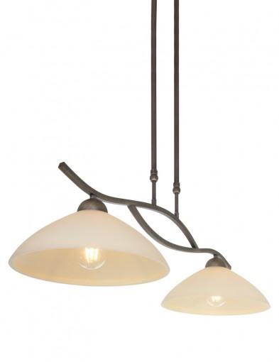 lampara de suspension doble-6836BR