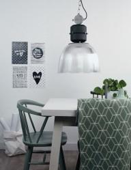 lampara de suspension en plastico-7695ZW