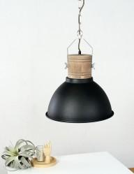 lampara de suspension escandinava negra-7781zw