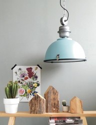 lampara de techo azul-7586BL