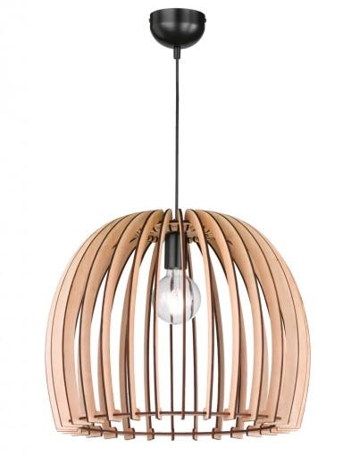 lampara de techo con madera wood-1831BE