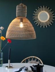 lampara de techo con malla dorada-1568GO