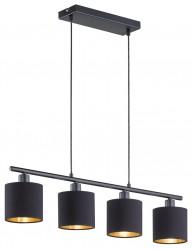 lampara de techo cuatro luces interior dorado-1794ZW