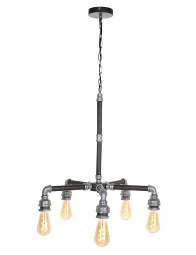 lampara de techo de metal gris-1583ZI