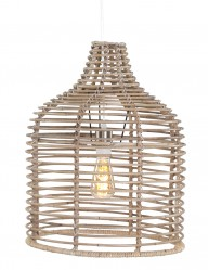 lampara de techo de mimbre-1676B
