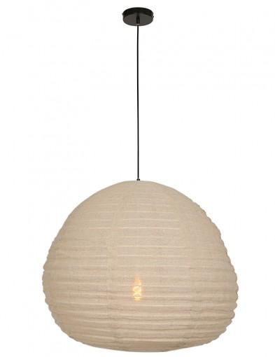 lampara de techo de tela beige-2136B