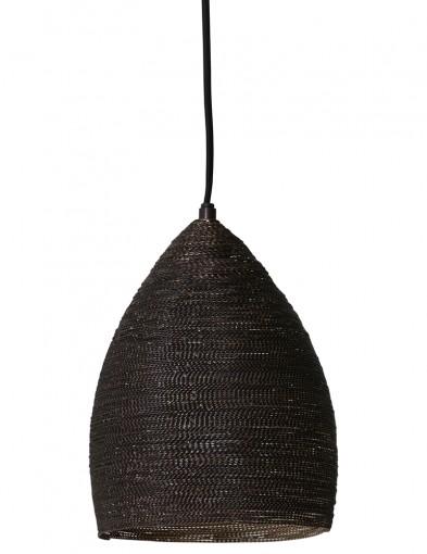 lampara de techo de tela negra-2019ZW