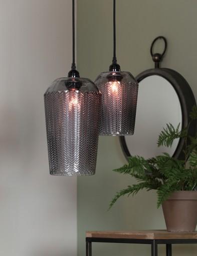 lampara de techo de vidrio-1751GR